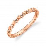 0.05ct 14k Rose Gold Diamond Lady