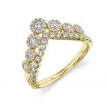 0.66ct 14k Yellow Gold Diamond Lady