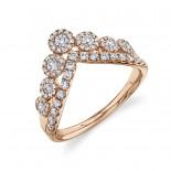0.66ct 14k Rose Gold Diamond Lady