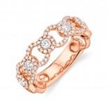 0.53ct 14k Rose Gold Diamond Lady