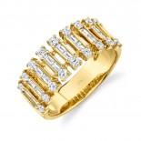 0.82ct 14k Yellow Gold Diamond Baguette Ring