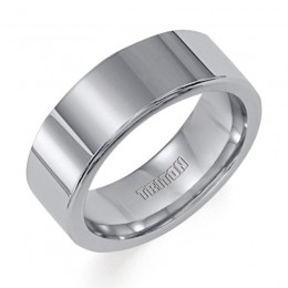 Triton 8mm Tungsten Carbide Bright Polish Comfort Fit Band