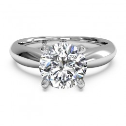 Ritani Cathedral Tapered Surprise Diamond Solitaire Semi Mounting