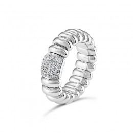 Hulchi Belluni Tresore Ring, 18K White Gold