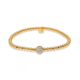 Hulchi Belluni Tresore Stretch Bracelet, 18k Rose Gold