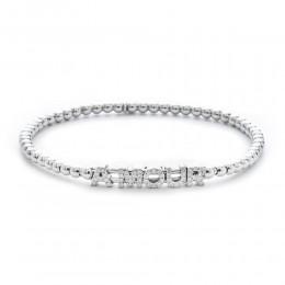 Hulchi Belluni 18k white gold & diamond Tresore Amour Bracelet