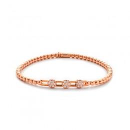 Hulchi Belluni Stretch Bracelet, 18K Rose Gold
