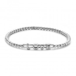 Hulchi Belluni 18k white gold & diamond Tresore Love Bracelet
