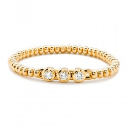 Hulchi Belluni Stretch Bracelet, 18K Yellow Gold