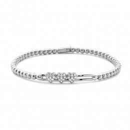Hulchi Belluni Tresore Stretch Bracelet, 18K White Gold