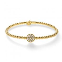 Hulchi Belluni Tresore Stretch Bracelet, 18k Yellow Gold