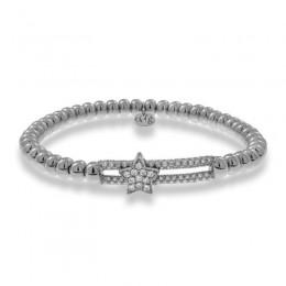 Hulchi Belluni Tresore Stretch Bracelet, 18k White Gold