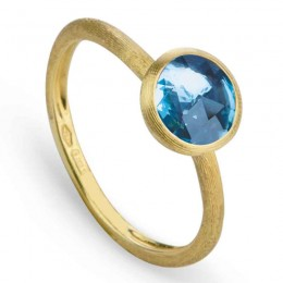 """Marco Bicego """"Jaipur"""" 18 Karat Yellow Gold Single Stone Topaz Ring."""