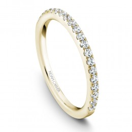 A Noam Carver 18K Yellow Gold Wedding Band With .31Ctw In Full Cut Diamonds. G/H, Si.