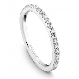 A Noam Carver 18K White Gold Wedding Band With .31Ctw In Full Cut Diamonds. G/H, Si.