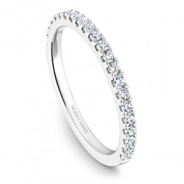A Noam Carver 18K White Gold Wedding Band With .34Ctw In Full Cut Diamonds. G/H, Si.