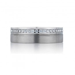 18K White Gold Gents Wedding Band