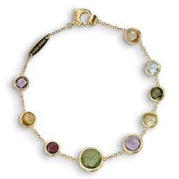 Jaipur Single Strand Mixed Gemstones Bracelet