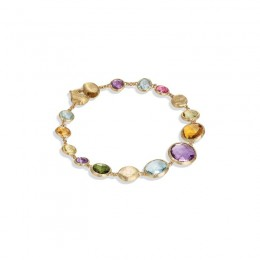Jaipur Graduated Single Strand Mixed Gemstone Bracelet