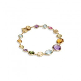 Marco Jaipur Yellow Gold with Mixed Stone Drop Bracelet