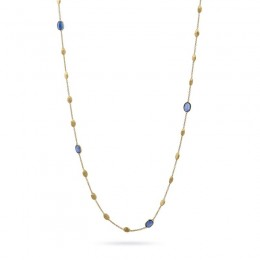Siviglia Gold Small Bead Long Necklace