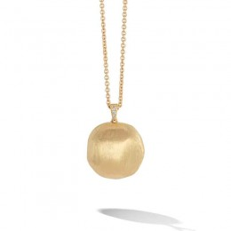Africa Gold & Pave Diamond Pendant