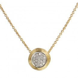 Delicati Gold & Diamond Pave Bead Pendant