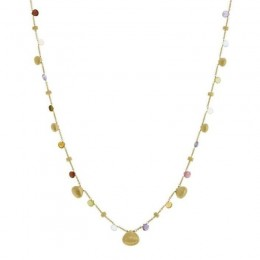 Paradise Mixed Gemstones and Gold Teardrop Necklace