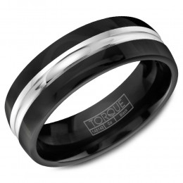 A Black Cobalt Torque Band With A White Cobalt Center.