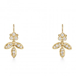 Temple St. Clair 18K Diamond Foglia Earrings