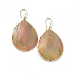 IPPOLITA Polished Rock Candy® Large Teardrop Earrings in Brown shell