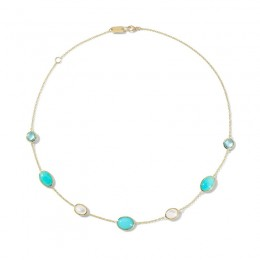 IPPOLITA Rock Candy® Luce 7-Stone Necklace in Cascata Color Palette