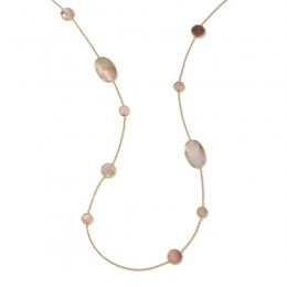 IPPOLITA Polished Rock Candy® Mixed Shapes Station Necklace Brown Shell