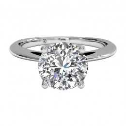 Ritani Embellished Prong Solitaire Semi Mounting