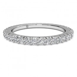 Ritani Micropave Diamond Eternity Wedding Ring