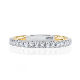 18K Two Tone  Wedding Band