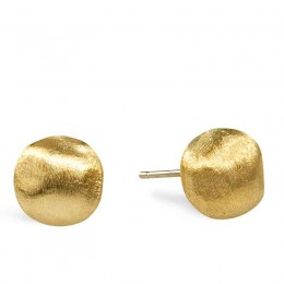Marco Bicego Africa 18 Karat Yellow Gold Post Earrings.