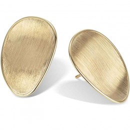 Lunaria Gold Stud Earrings