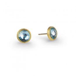 "Marco Bicego ""Jaipur"" 18 Karat Yellow Gold Post Earrings With Topaz."