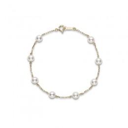 Mikimoto Akoya Pearl Station Bracelet