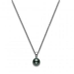 Mikimoto Black South Sea Pearl and Diamond Pendant