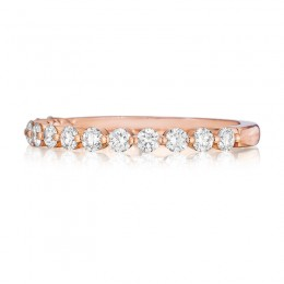 Henri Daussi Rose Gold Diamond Band