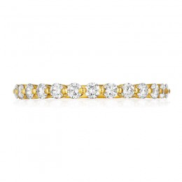 Henri Daussi Yellow Gold Diamond Pave Band