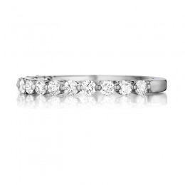 Henri Daussi White Gold Diamond Pave Band