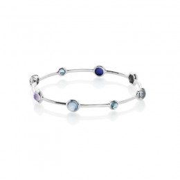 IPPOLITA Rock Candy® Mixed Stone Bangle in Eclipse