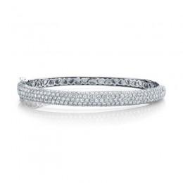 5.25ct 14k White Gold Diamond Bangle