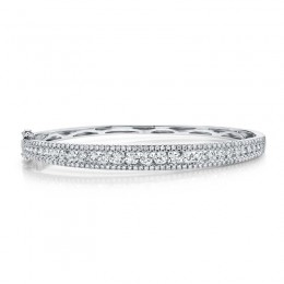 2.75ct 14k White Gold Diamond Bangle