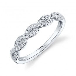 0.22ct 14k White Gold Diamond Lady