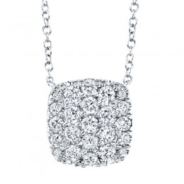 0.53ct 14k White Gold Diamond Pave Necklace