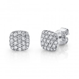 0.50ct 14k White Gold Diamond Pave Stud Earring